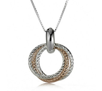 Links of London Aurora Cluster Link Pendant & 46cm Chain Sterling Silver - 634558