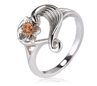 Clogau Daffodil 9ct Rose Gold & Sterling Silver Diamond Ring - 664858