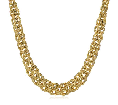 Bella Vita 18ct Gold Plated Byzantine 40cm Necklace Bronze