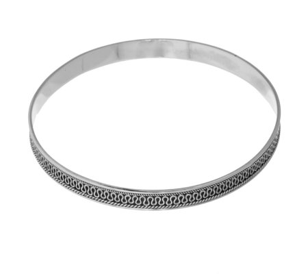 Suarti Collection Push Over Bangle Sterling Silver