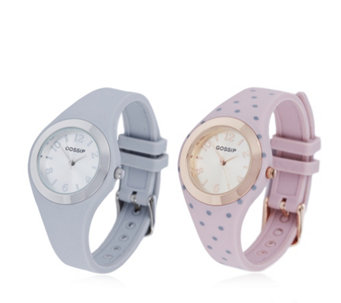 Gossip Set of 2 Silicone Strap Watches - 692673