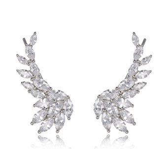 Michelle Mone for Diamonique 5.8ct tw Marquise Ear Climbers Sterling Silver - 664674