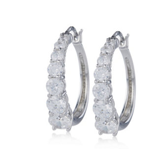 Michelle Mone for Diamonique 2.8ct tw Hoop Earrings Sterling Silver - 664677