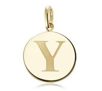 K by Kelly Hoppen 45mm Initial Charm 18ct Gold Plated Bronze - 694077