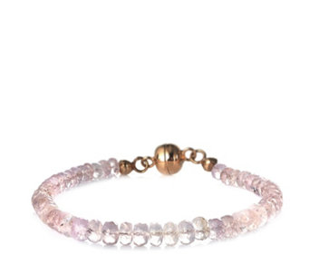 40ct Morganite 19cm Bracelet w/Magnetic Clasp Rose Gold Vermeil Sterling Silver - 645982