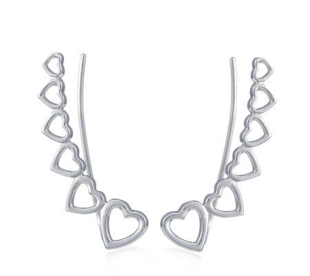 Georgiana By G Scott Heart Climber Earrings Sterling