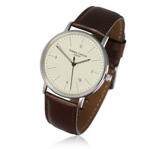 Simon Carter Men's Leather Strap Watch - 664387