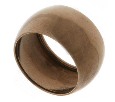 9ct Chocolate Gold Band Ring QVC UK