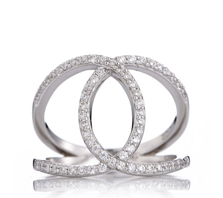 row massive rings diamond ring cocktail entwined