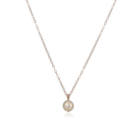 Honora 13-14mm Cultured Ming Pearl Pendant & Chain Bronze