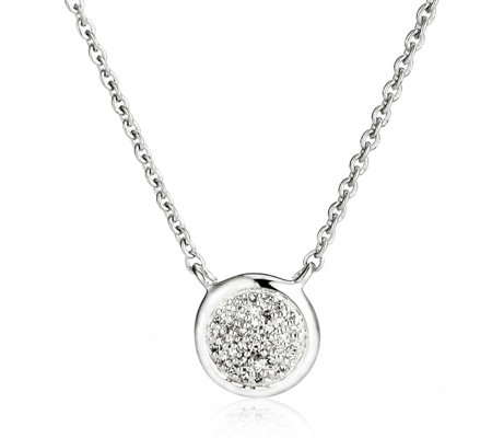 Links of London Pave Diamond Essential Pendant & Chain Sterling Silver