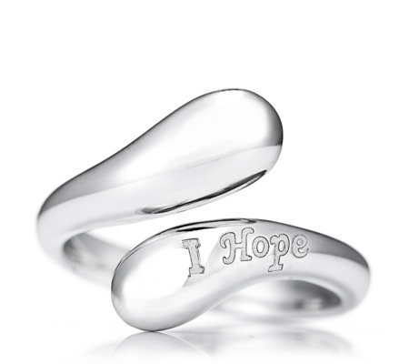 Alison Keenan Breast Cancer Care I Hope Bypass Ring Sterling Silver