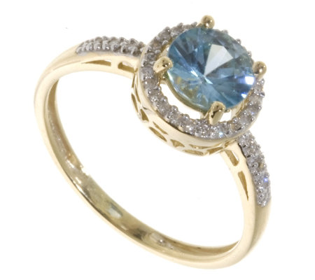 circa blue retro ring cocktail cut era zircon diamond emerald