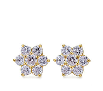 Diamonique 1.5ct tw Cluster Stud Earrings Sterling Silver - 647795