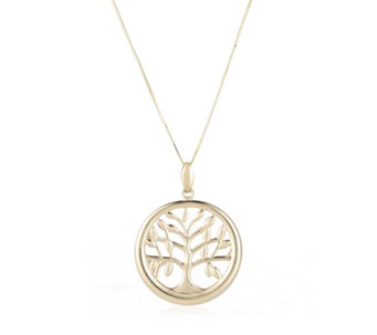 9ct Gold Tree Of Life Pendant & 60cm Chain - 664998