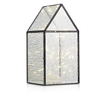 Home Reflections Metal Lantern with Copper Wire Light Strand - 706603