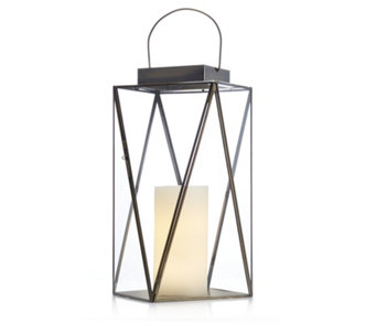Home Reflections Faceted Lantern with LED Candle - 706605