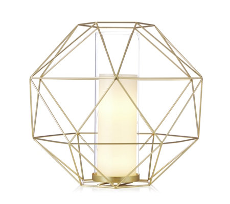 BundleBerry by Amanda Holden Hurricane Lantern with Flameless Candle