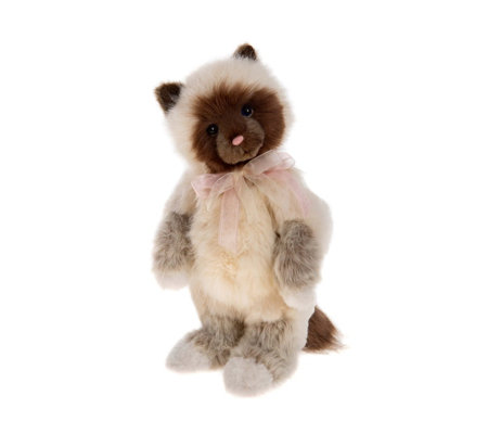 "Charlie Bears Collectable Clawdia 11.5"" Plush Bear"