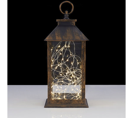 Home Reflections Decorative Lantern With Led Rice Lights