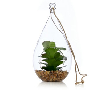 Home Reflections Set of 3 Hanging Glass Faux Planters - 706621