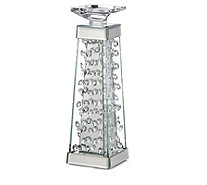 JM by Julien Macdonald Encapsulated Crystal Candle Holder - 708023