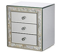 JM by Julien Macdonald Mother of Pearl 3 Drawer Trinket Box - 708026