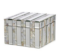 JM by Julien Macdonald Mother of Pearl Stripe Trinket Box - 708027