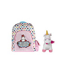 Despicable Me 3 I Believe in Unicorns Backpack & Medium Fluffy Unicorn Toy - 707828