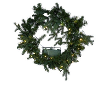 Santa's Best 6 Function 40 Micro LED Greenery Collection - 705833