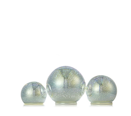 BundleBerry by Amanda Holden Set of 3 Infinity Glass Spheres