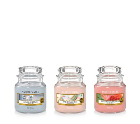 Yankee Candle Enjoy the Simple Things Set of 3 Small Jars Gift Set