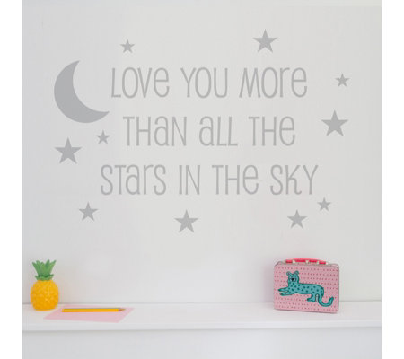 Nutmeg Designs Love You More Than All the Stars in the Sky Wall Stickers