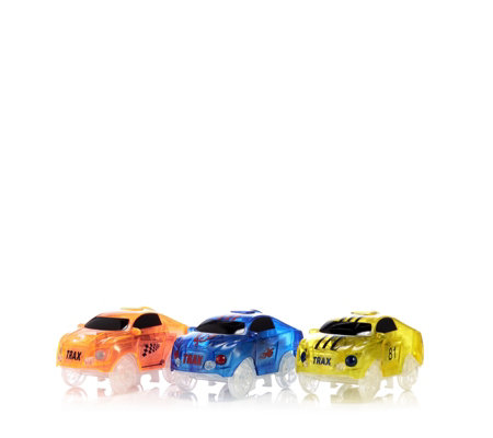 Twister Tracks Set of 3 Race Cars with LED Lights