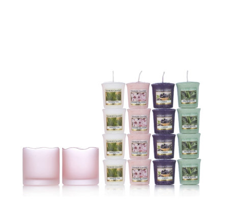 Yankee Candle Pink Tranquillity Holders with 20 Votives