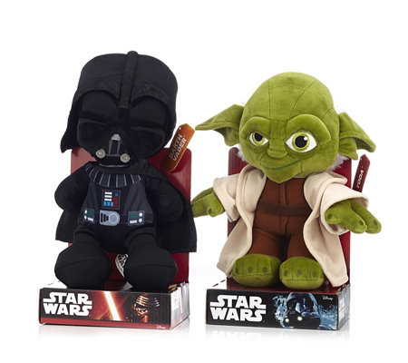 "Star Wars Set of 2 10"" Plush Characters"