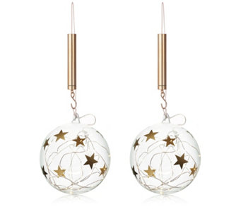 Home Reflections Set of 2 LED Star Baubles - 707258