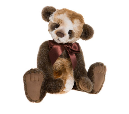 "Charlie Bears Collectable Wishes 14.5"" Plush Bear with Bag"