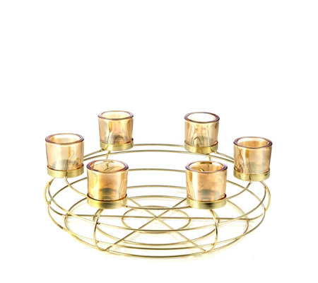 """As Is"" Home Reflections Votive with Six Glass Holders"