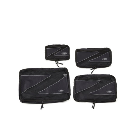 z pac set of 4 packing organisation cubes page 1 qvc uk. Black Bedroom Furniture Sets. Home Design Ideas
