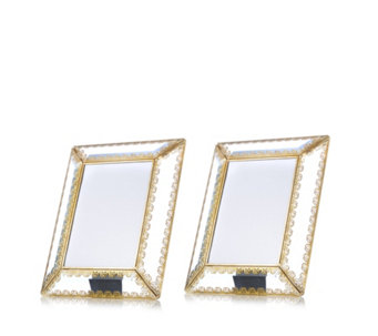 Alison Cork Set of 2 Glass Picture Frames - 706767