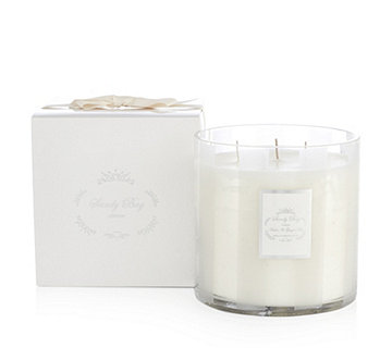 Sandy Bay 4 Wick Candle in Striped Glass 50cl - 706269