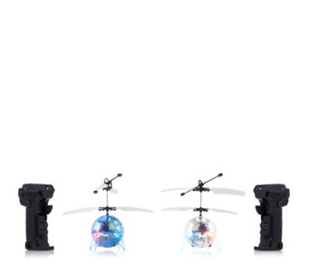 Set of 2 Remote Control LED Hoverspheres - 706470