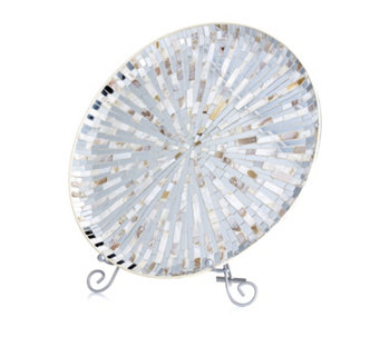 Home Reflections Mosaic Mother of Pearl Display Plate - 706673