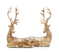Alison Cork Set of 2 Decorative Resting Stags