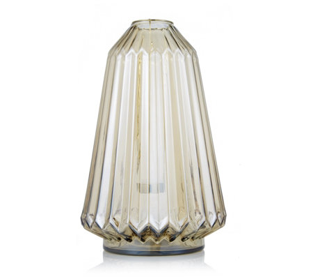 Home Reflections Pleated Lustre Lantern with LED Candle