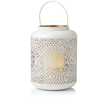 Home Reflections Indoor/Outdoor Eastern Inspired Lantern with Flameless Candle