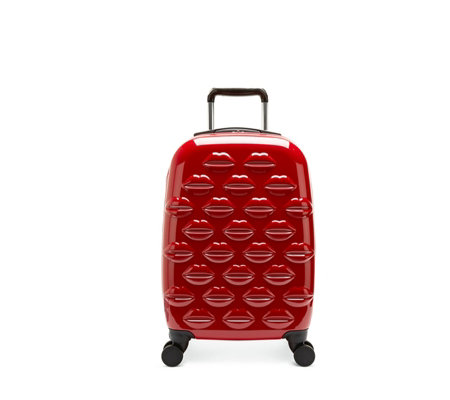 Lulu Guinness Medium Hard Sided Lips Spinner Case
