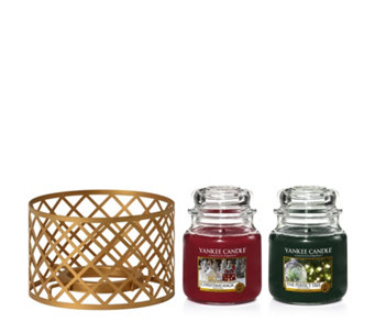 Yankee Candle The Perfect Christmas Set of 2 Medium Jars & Shade - 707882