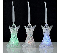 Mr Christmas Set of 3 Mini Acrylic Angel Ornaments - 706086